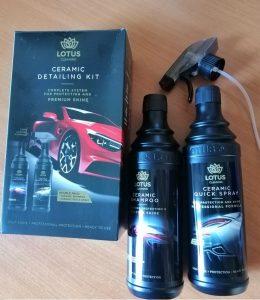 lotus autósampon és kerámia bevonat spray
